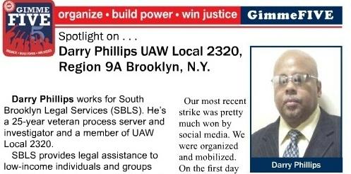 25 Year Veteran Union Member Profiled in UAW Solidarity Magazine