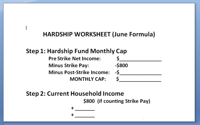 hardship worksheet