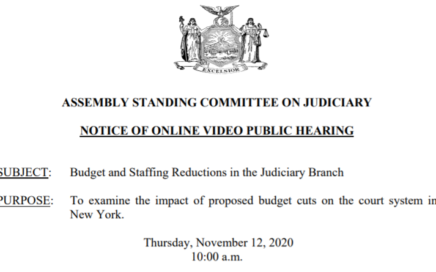 LSSA Testimony to State Assembly Judiciary Committee on Budget and Staffing Reductions in the Judiciary Branch