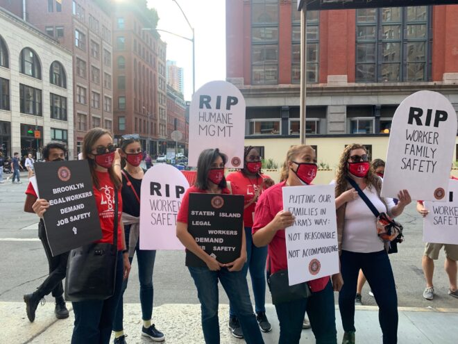 Union Protests Court Demands Amid COVID